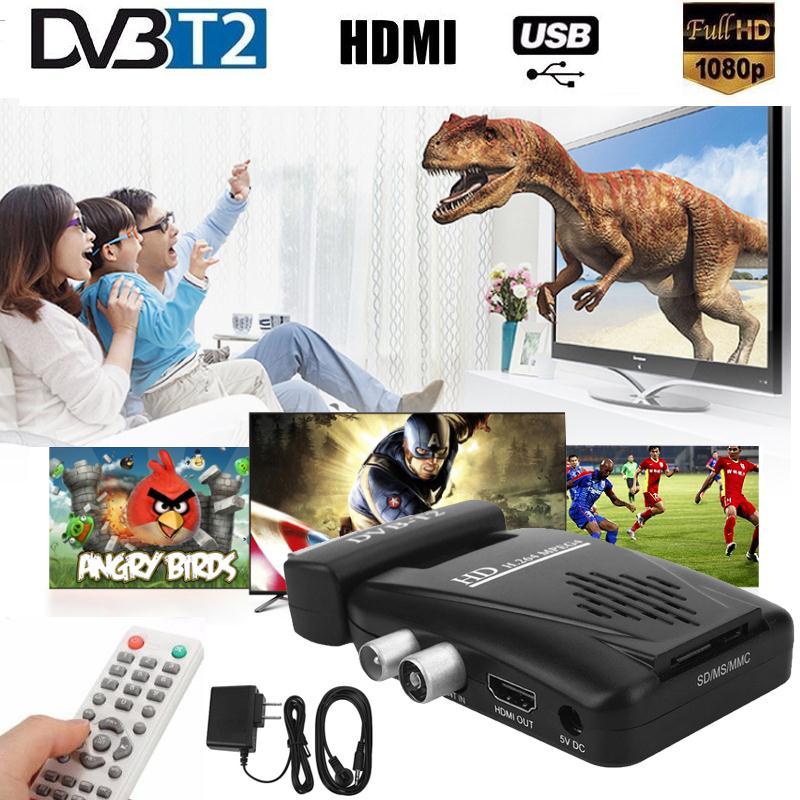 Wireless digitale DVB-T2 H.264 1080 P SCART Terrestre Ricevitore TV Box IR
