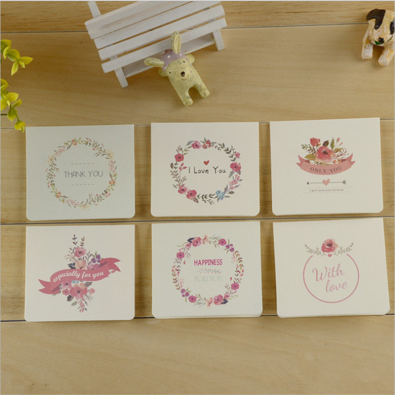10pcs mixed Simple Christmas DIY Folding Mini Cards