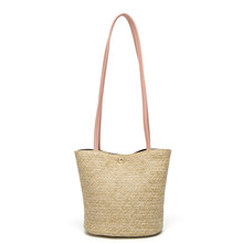 QIUYIN Shoulder Bag Ladies Weaving Bucket Beach Bags New Straw bag Casual Handbag Summer Holiday Fashion