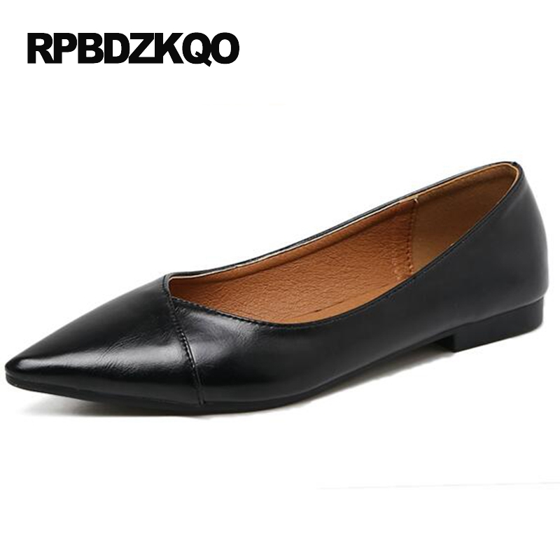 Office Black Ladies Flats Chinese Pointed Toe Plain 2017 Spring Autumn Women Cheap Shoes China Slip On Fashion Drop Shipping new spring autumn women shoes pointed toe high quality brand fashion ol dress womens flats ladies shoes black blue pink gray