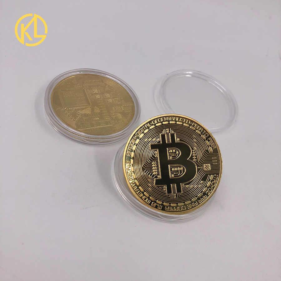 Горячая KL 99.99% позолоченная или Посеребренная монета-Биткоин BTC Litecoin пульсация криптовалюта металлическая памятная монета Трамп крыса Бог Иисус