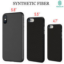 Nillkin synthetic fiber Cell font b phone b font case for apple Iphone X 6 6s