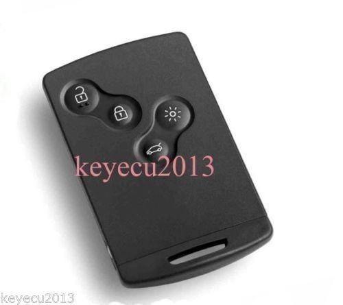 Free shipping Replacement New Uncut Remote Key Fob 4 Button 433Mhz PCF7952 for Renault Megane 2009