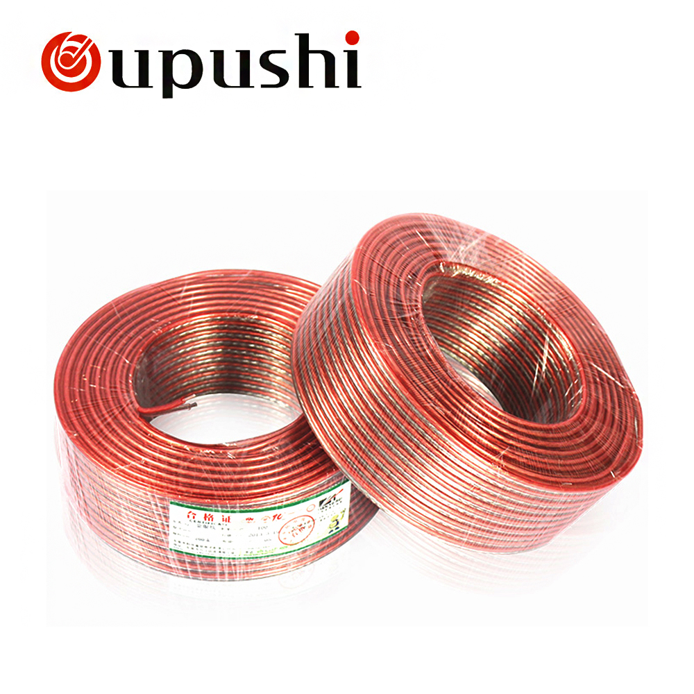 Oupushi Loud Speaker Wire Cable For Home Theater System Pure Oxygen Wiring Free Copper 2