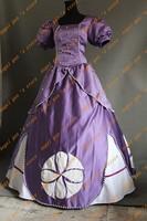 Лидер продаж! Custom Made высокого качества Принцесса София платье косплей костюм на Рождество/Хэллоуин маскарадный костюм 003