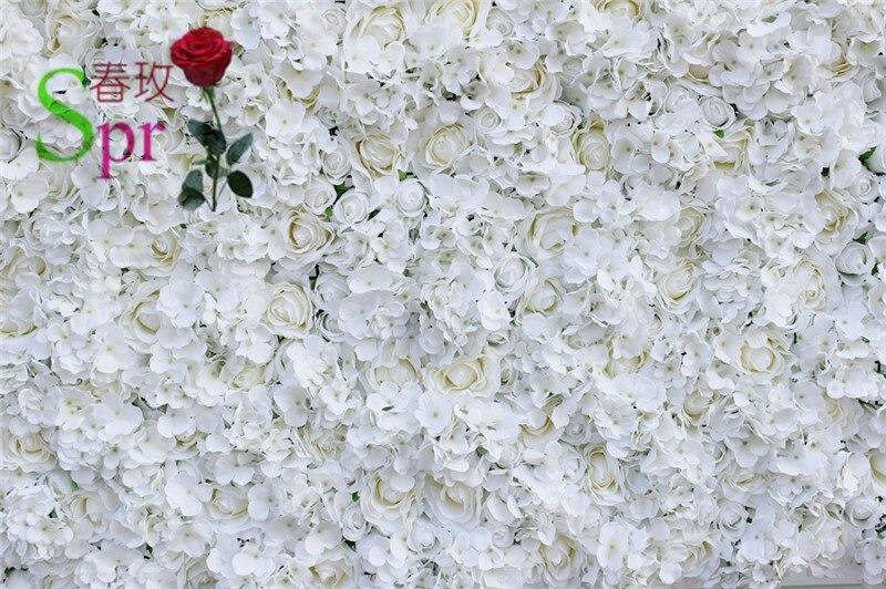 SPR Бесплатная доставка 10 шт./лот белый искусственный цветок гортензии настенный свадебный фон Арка настольная дорожка украшения цветы