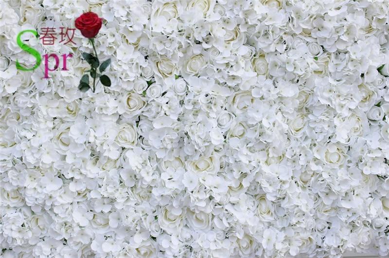 SPR livraison gratuite 10 pcs/lot blanc artificiel hortensia rose fleur mur mariage toile de fond arc chemin de table décoration fleurs