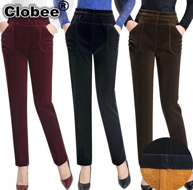 New autumn and winter women Corduroy pants plus velvet ...