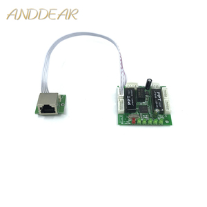 Image 1 - Mini projeto do módulo ethernet switch circuit board para o módulo de switch ethernet 10/100 mbps 5/8 portas placa PCBA OEM motherboard