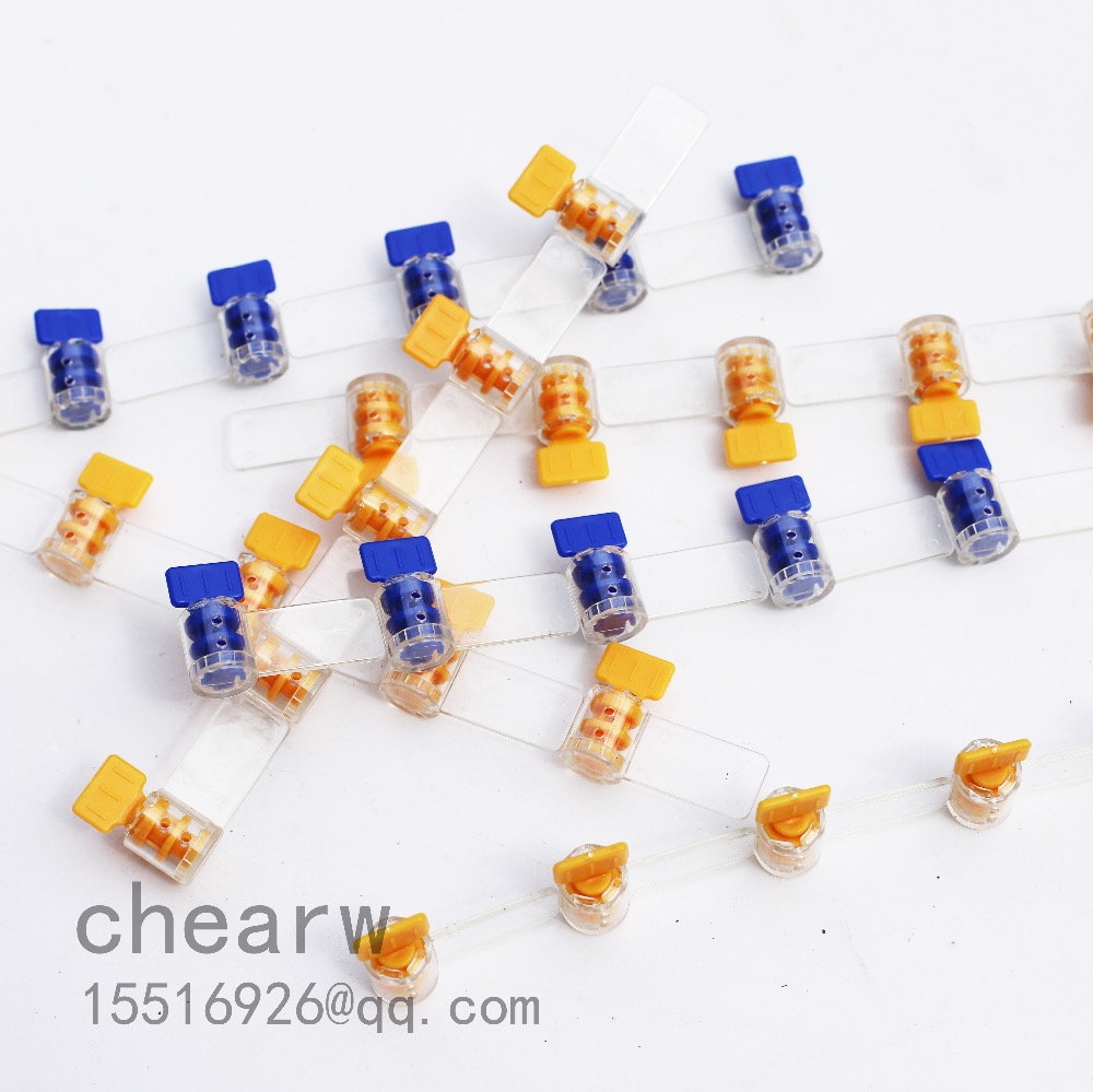 100pcs Meter Seals Mini Plastic Seals /one Thousand A / Larser Printing Company Signs And Number
