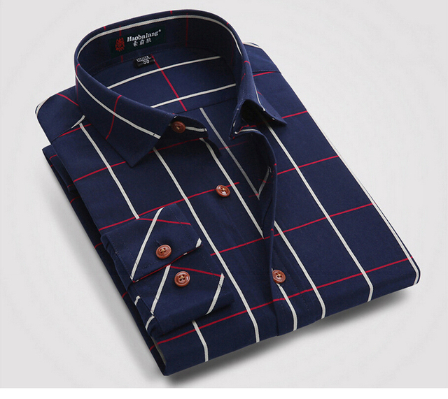 36631c7f915 2015 Mens Plaid Shirt 100% Cotton Long Sleeve Colorful Linen Checked  Striped Brands Famous Summer Business Style Shirt Men Cloth