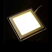 SPLEVISI Dimmable 6W 12W 18W LED Ceiling Recessed Downlight Square Acrylic Panel Light  For Foyer Kitchen Dinning Room Hotel