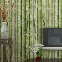 Beibehang Retro Bamboo Background Wallpapers Bedroom Living Room TV Background Pastoral Green Bamboo 3d Wallpaper mural roll