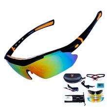 Polarized Cycling Sunglasses Men Bike Glasses Sport Bicycle Goggles 5 Lenses Eyewear gafas ciclismo lunette de soleil homme.A11