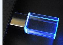 2ydream (10pcs משלוח לוגו) פלאש קריסטל USB 2.0 דיסק און קי 4GB 8GB 16GB 32GB 64GB USB דיסק און קי