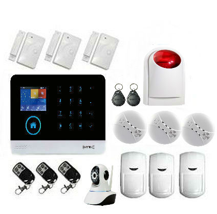 Yobang Security Wireless Home Burglar wifi GSM Alarm System to home, Security Guard , Voice Prompt, Free Shipping free shipping 315mhz and 433mhz wireless rfid key tag for wolf guard gsm wireless security burglar home alarm system