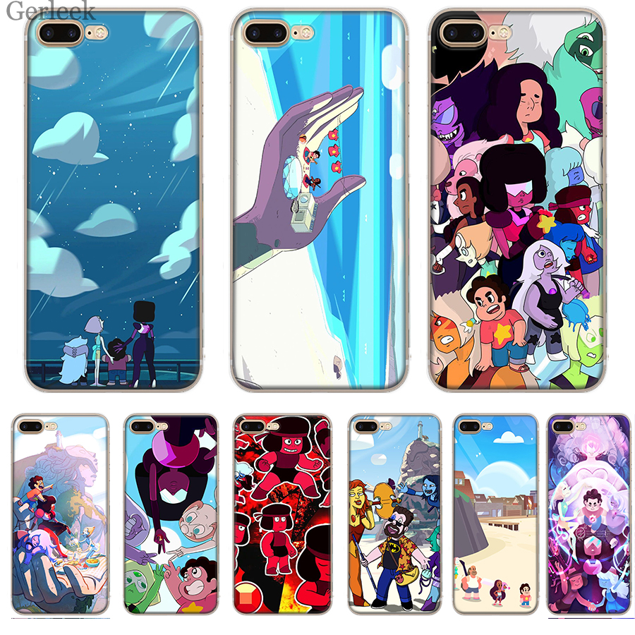 Cartoon Steven Universe Phone Case Cover For iPhone 6 6S 5 5S SE XR X XS MAX 8 7 6 Plus Cases-in