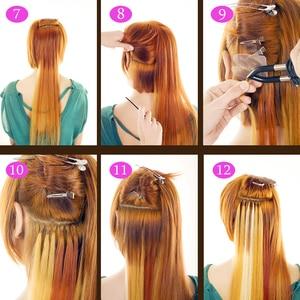 Image 5 - Newest Hair Extension Tool Heat Iron Wand Loof Hair Iron Connector Hot Hair Extension Tongs Flat Plate L 618 Black Eu/AU Outlet