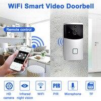 Inteligente interfone wi fi vídeo telefone campainha da porta câmera pir ir alarme para apartamentos sd998|Campainha| |  -