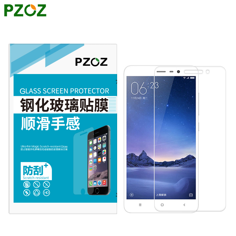 PZOZ Tempered Glass For Xiaomi RedMi 3 Screen Protector Original Xiaomi Redmi 3 Pro Film Xiomi Redmi 3 pro Xiaomi Redmi 3S 5.0