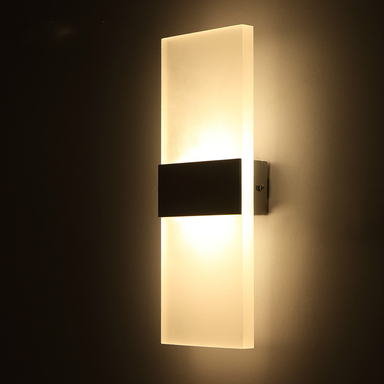 led wall lamp bed-lighting wall lights personalized ultra-thin acrylic aluminum material 6W (warm white / white) wall lamp image