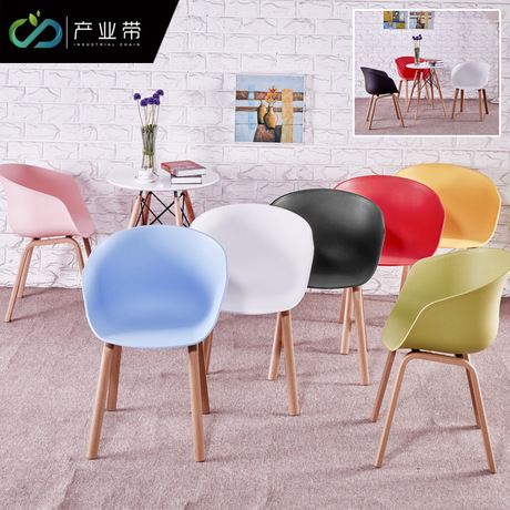 Living Room Chairs Living Room Furniture Home Furniture solid wood+plastic dining chair coffee chair Nordic chaises office chair