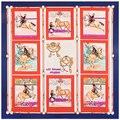 Sarga de Seda Bufanda de Las Mujeres 130*130 cm la Gente a cuadros cinturón caballo Bufandas Cuadradas de Regalo de Moda de Alta Calidad de impresión bufanda de Seda Grande Estupendo chales