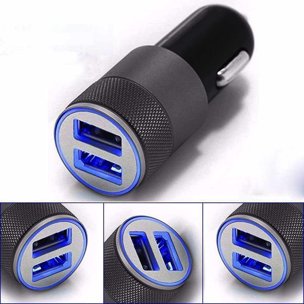 Mini Dual USB Twin Port 12V Universal In Car Lighter Socket Charger Adapter plug Fast Charge Car Lighter Socket Charger Adapter