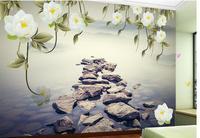 Custom Any Size Mural Wallpaper Flower stone living room wallpaper 3d painting