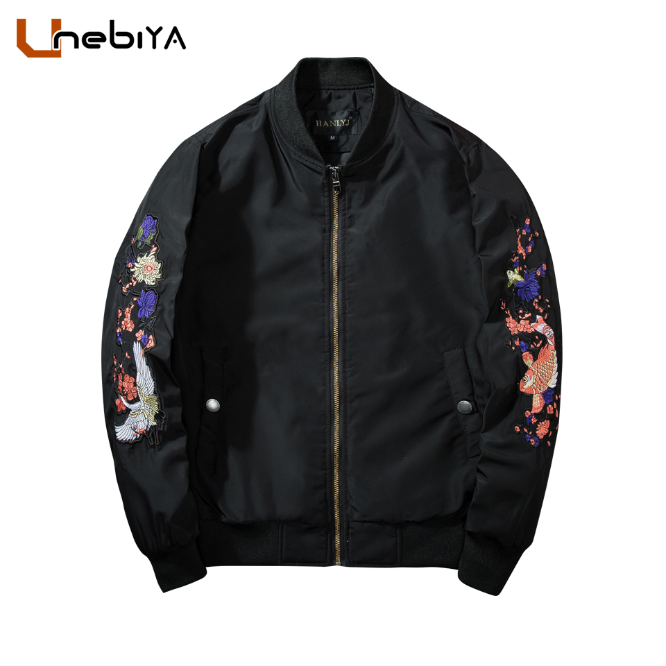 High quality Men Spring Embroidery Jackets 2018 Aviator Flight Pilot bomber Jacket men alpha air force 1 military army jacket