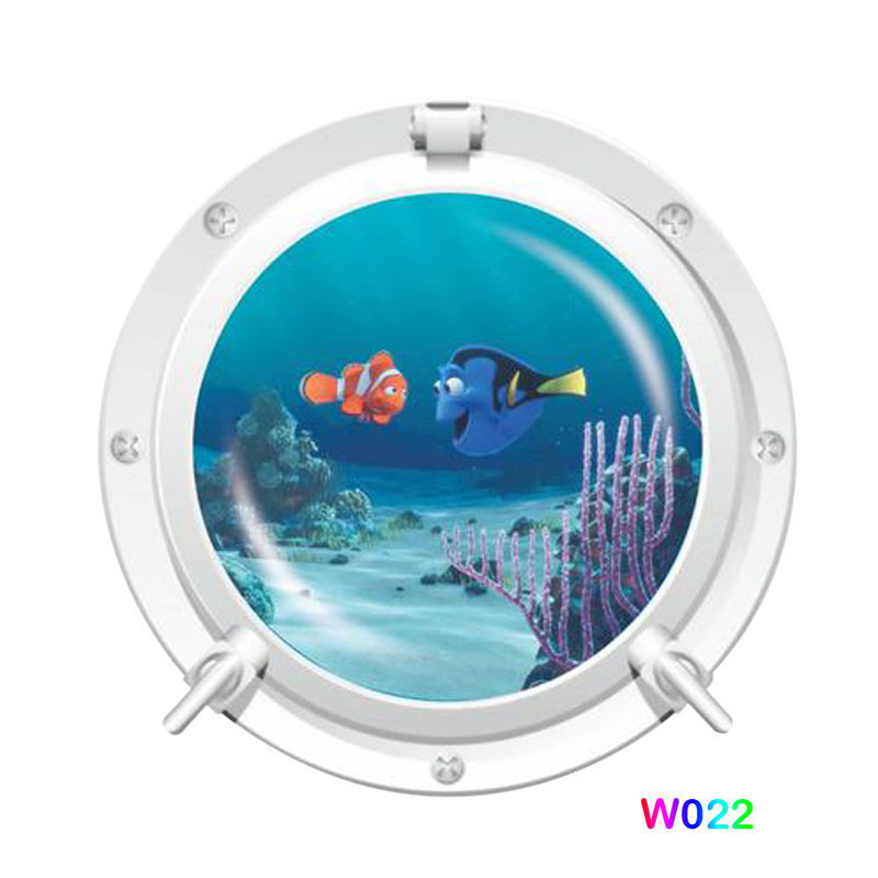 Aliexpress.com : Buy 3D Window Finding Nemo Art Ocean View Wall Stickers  Home Decor Kids Toilet Sticker Sea Cruise Wall Art For Kids Rooms E#CH From  ...
