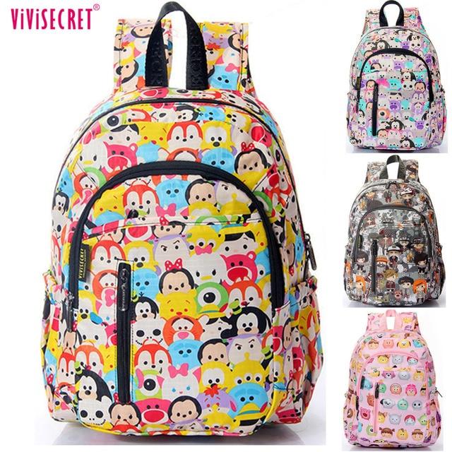 Children S Tsum Waterproof Nylon Kindergarten School Bags Backpacks For Boys Kids Kawaii Cartoon