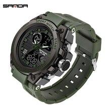 Sports-Watches SANDA Army-Dive Digital Military Electronics Casual Fashion Men Mens LED