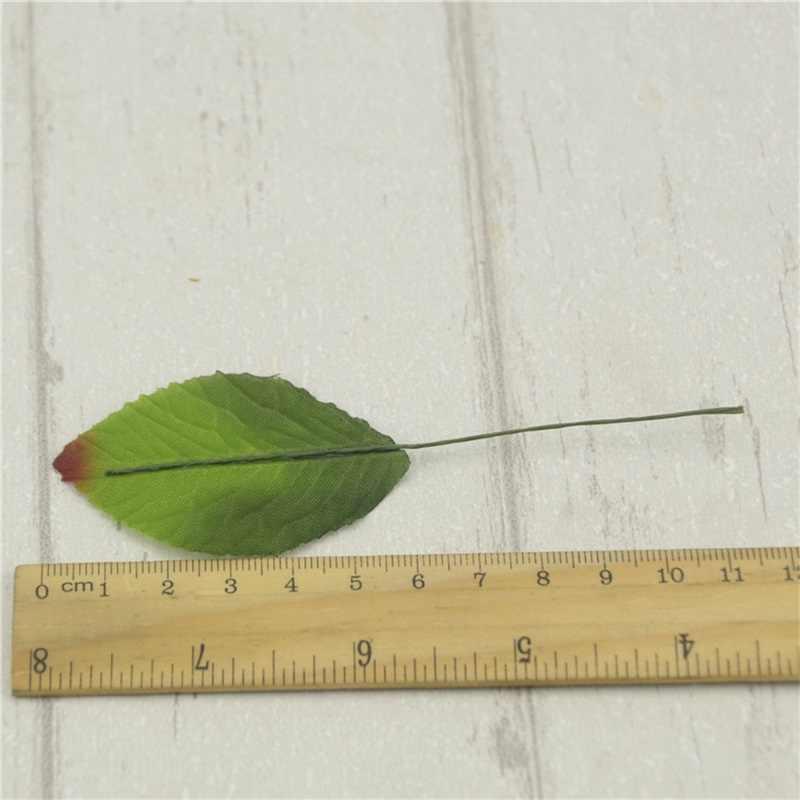 """12 יחידות 6 ס""""מ משי עלה ירוק אקליפטוס משאיר פרחים מלאכותיים לקישוט חתונה DIY זר רעיונות קרפט פרח מזויף"""