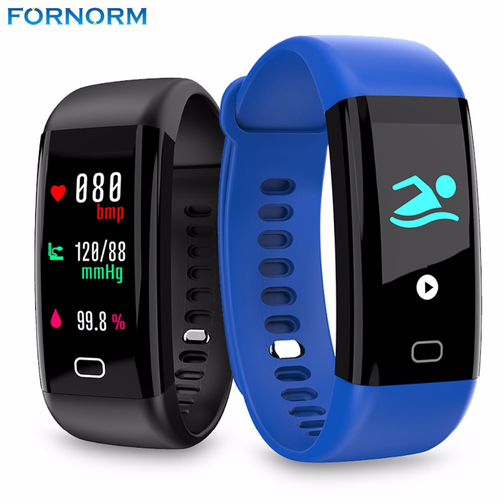 Fornorm IP68 Waterproof Bluetooth4.0 Smart Bracelet Watch Wristband Support Heart Rate Monitor for IOS & Android Smartphones