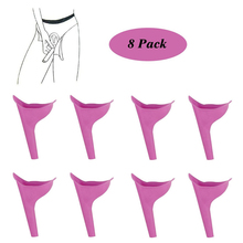 8 pcs Female Wearable Urinals Woman Urinal Pee Girl PortableTravel for Female Urinals Outdoor Camping Girl Urinary Device Urine