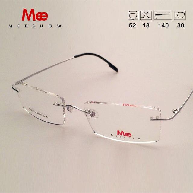 7ef867834a6 Online Shop Meeshow Rimless Glasses Titanium alloy optical frame ...