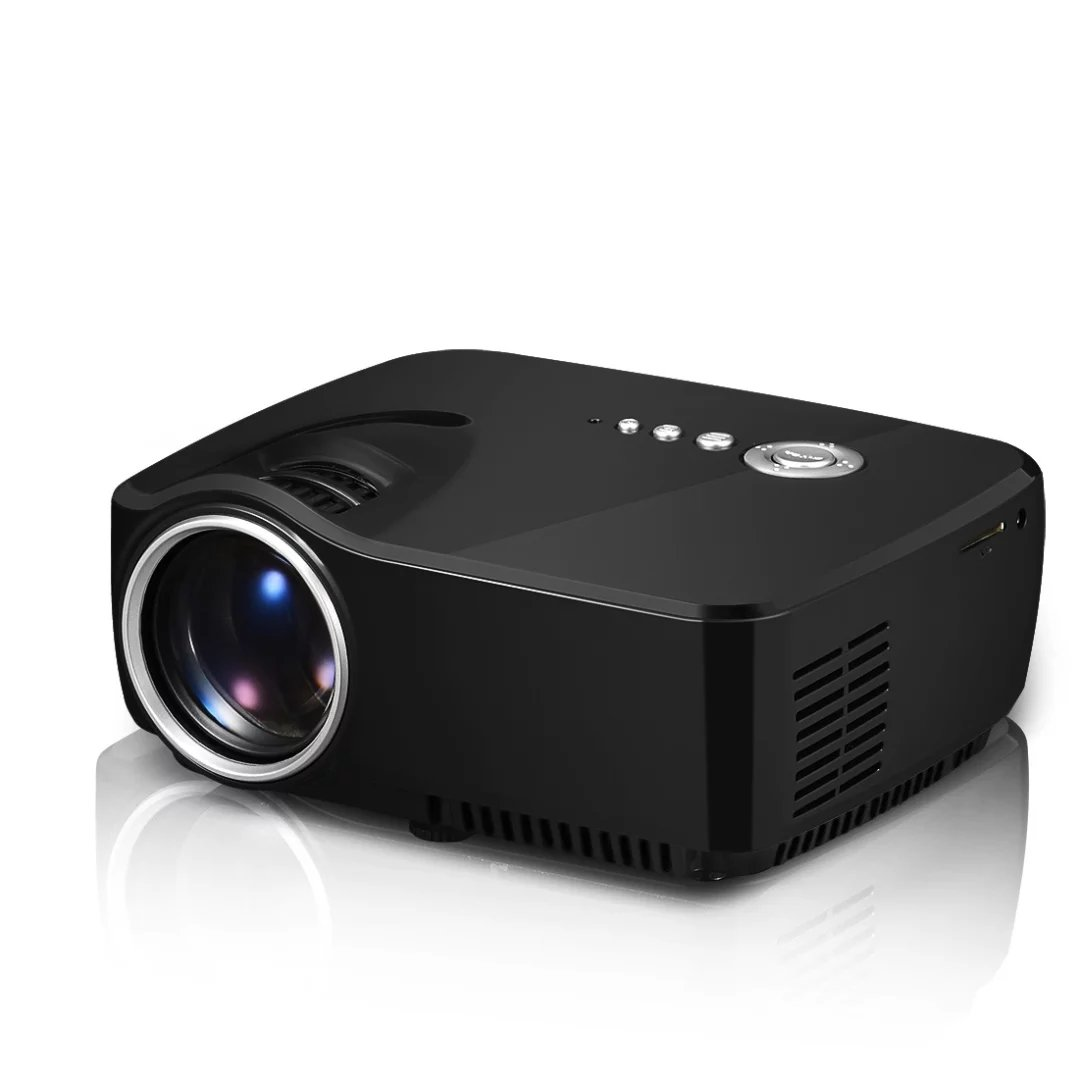 GP70 Portable Pocket LED Projector 1800Lumens 800*480 Support 1920x1080P Analog TV For Home Cinema AM01 Proyector