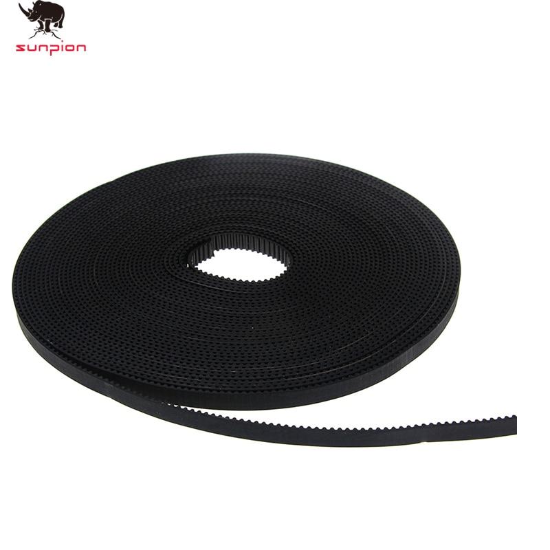 5m/lot GT2-6mm Open Timing Belt Width 6mm GT2 Belt Rubbr Fiberglass Cut To Length For 3D Printer Parts 1PCS