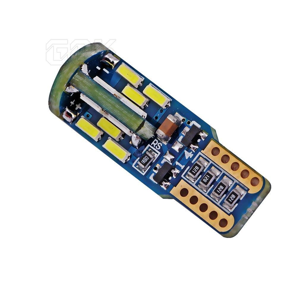 1бр t10 led canbus T10 30led 4014 smd LED No OBC Грешка 194 - Автомобилни светлини - Снимка 5