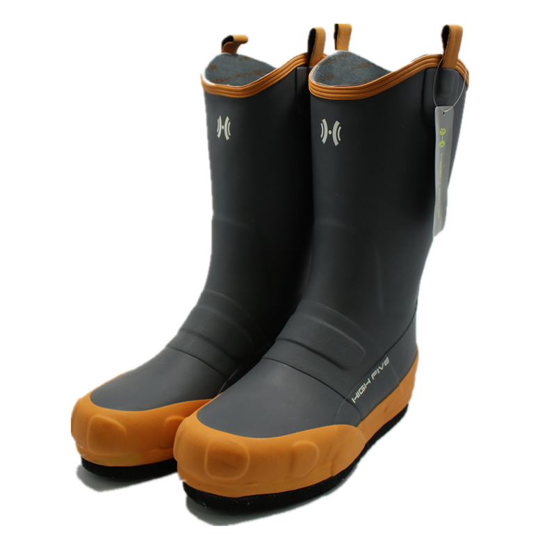 Bottom nailed DS rainshoes rubber rainboots men s fishing boots felt soled rocky