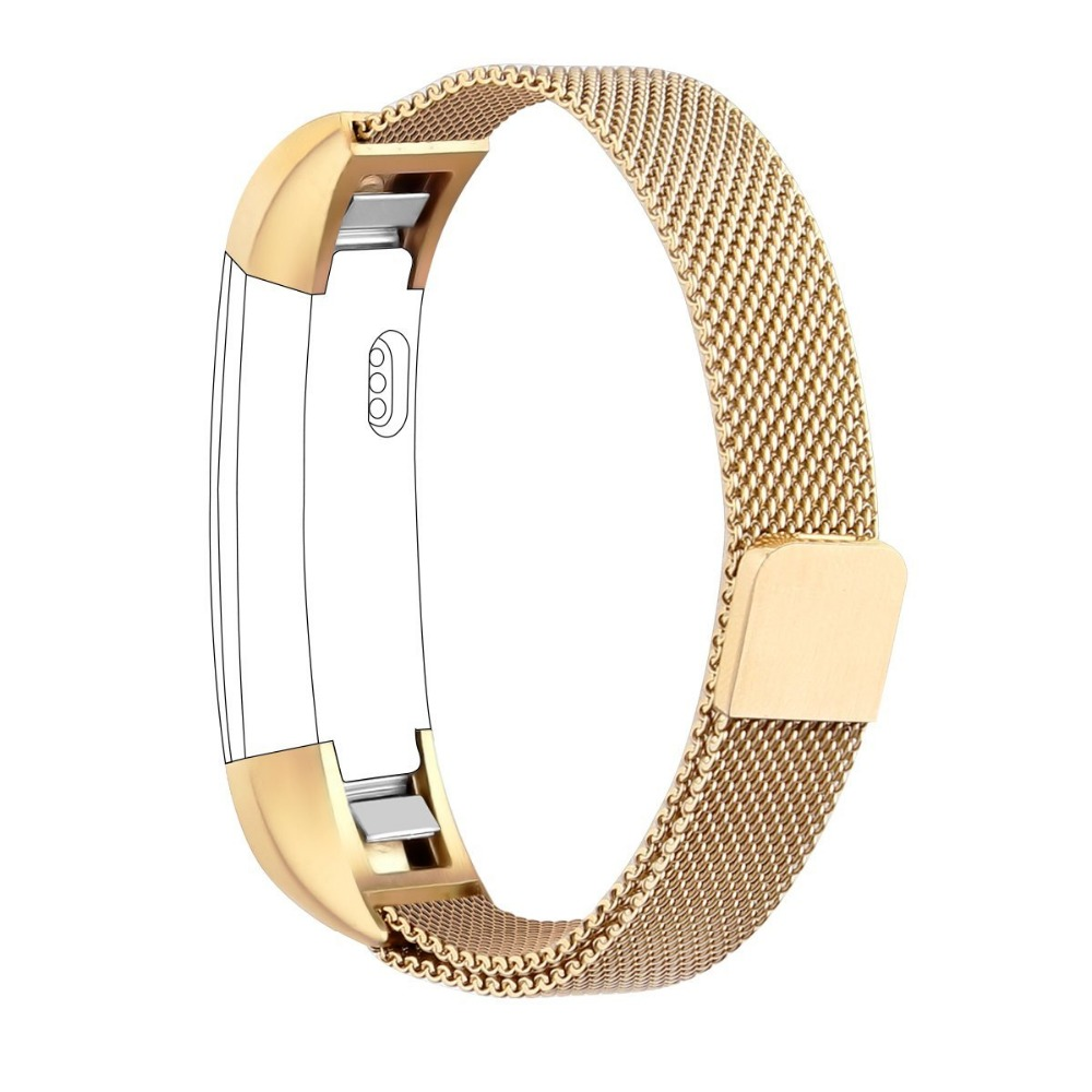 Luxury Magnetic Loop Stainless Steel watchband Customized Strap band For Fitbit Alta Smart Watch  Fitbit alta HR band motorcycle radiator grille grill guard cover protector golden for kawasaki zx6r 2009 2010 2011 2012 2013 2014 2015