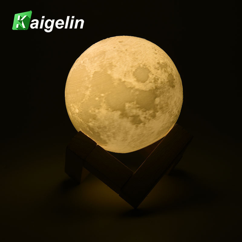 3D Printing Moonlight LED Night Light USB Charging Night Lamp Touch Patching Sense Control Discoloration For Girl Bedroom Deco