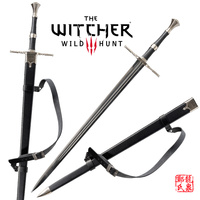For The witcher3 Rivia Sword Stainless Steel European Medieval Swords Replica Blade No Sharp Brand New Supply