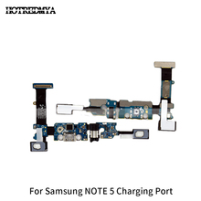 цена на Note5 Charging Charger Port Flex Cable USB Dock Microphone Connector Replacement Repair Parts For Samsung Galaxy Note 5 N920F