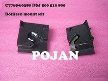 Rollfeed mount kit C7769-60380 c7770-60014 Для DesignJet 500 510 800 815 820 (L + R) чернил плоттер печатающей головки части принтера