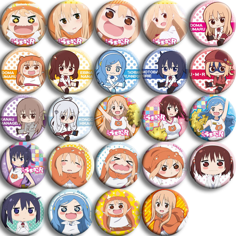 Japan Anime Himouto! Umaru-chan Cosplay Badge Cartoon Collection Bags Badges For Backpacks Button Clothes Brooch Pins Gifts