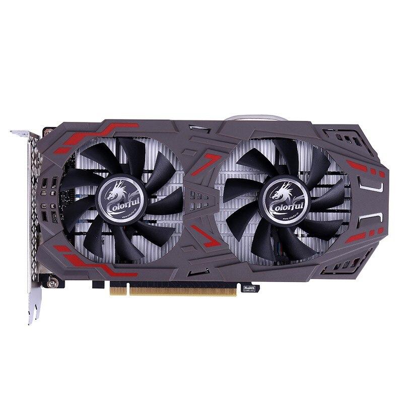 Carte graphique vidéo GeForce GTX1060 6 GB GDDR5 GAMING V4 1506-1708 MHz PCI-E X16 (3.0) DVI + HDMI + DP carte vidéo 2 ventilateurs