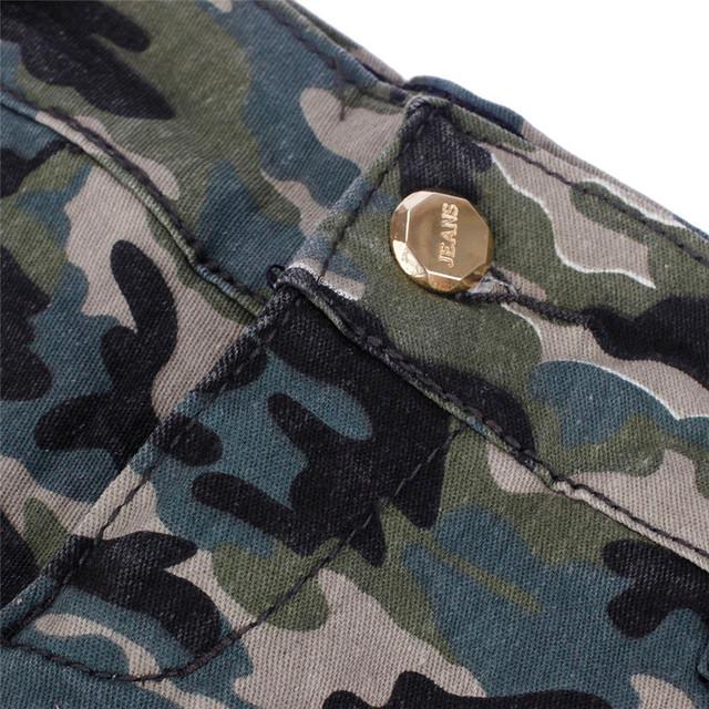 Hot Marketing 1PC Sexy Womens Camouflage Jeans Short Shorts Hot Denim Low Waist WJul28