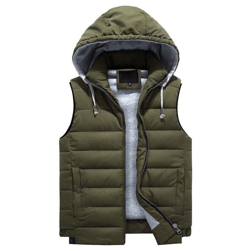 Grande taille 4xl-8xl nouveau hiver automne sans manches veste pour hommes mode chaud à capuche mâle gilet grande taille hommes travail gilets gilet